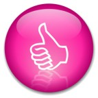 pink thumbs up